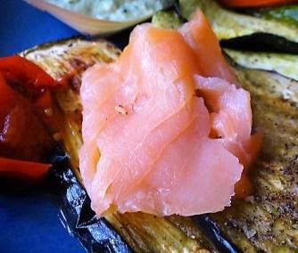 Ofengemüse,geräucherter Lachs,Bärlauch Dip (10)