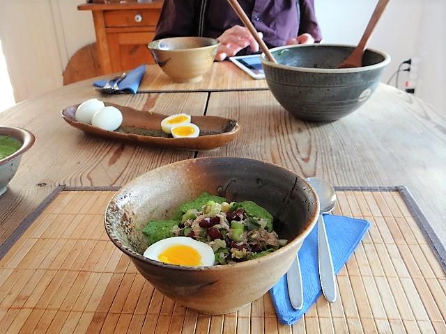 Bohnen Thunfisch Salat mit Rucola Pesto und Ei (16)