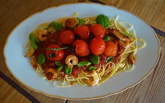 Garnelen mit Tomaten (8)