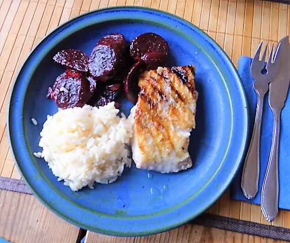 Rotbarsch,Reis,Rote Bete (1)