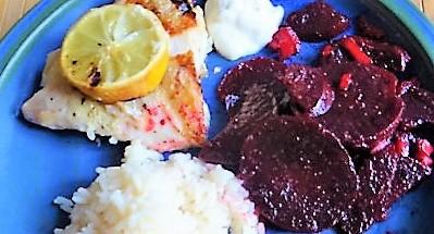 Rotbarsch,Reis,Rote Bete (3)