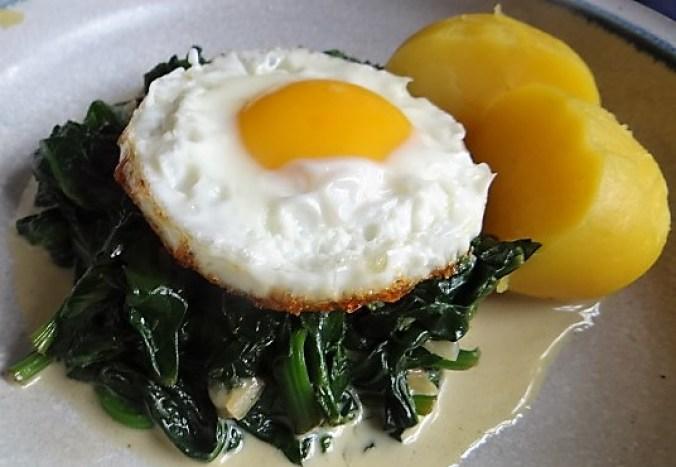 Spinat,Spiegelei,Kartoffeln (15)