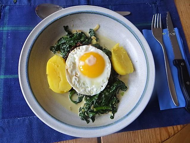 Spinat,Spiegelei,Kartoffeln (2)
