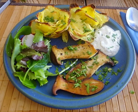 Kräutersaitlinge,Kartoffelrosen, Salat (21)