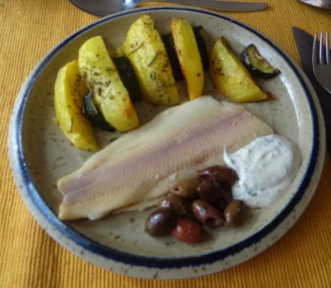 Ofen-Kartoffel-Zucchini,geräucherte Forelle (2)