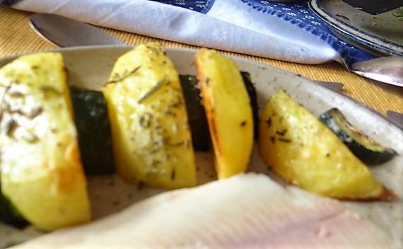 Ofen-Kartoffel-Zucchini,geräucherte Forelle (3)