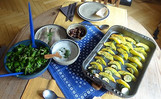 Ofen-Kartoffel-Zucchini,geräucherte Forelle (4)