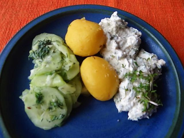 Quark,Kartoffeln,Gurkensalat (3)