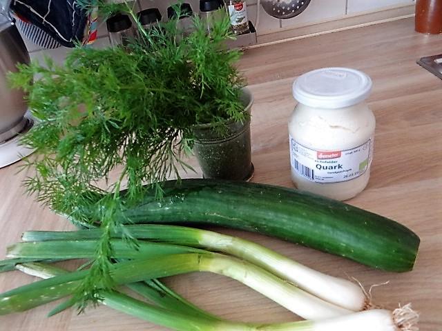 Quark,Kartoffeln,Gurkensalat (5)
