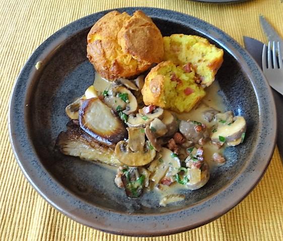 Schinkenmuffins und Pilze (2)