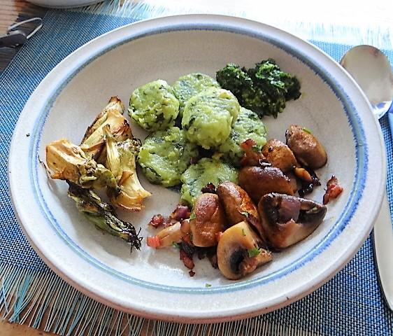 Bärlauch Gnocchis,Pilze (2)