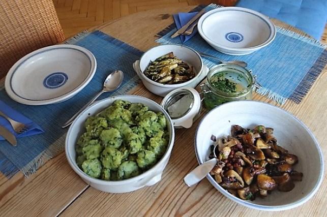 Bärlauch Gnocchis,Pilze (5)