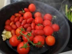 Grüner Spargel,Tomaten und Garnelen (11)