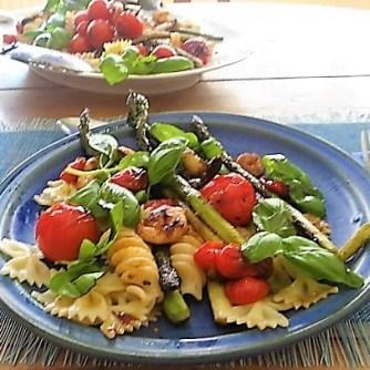 Grüner Spargel,Tomaten und Garnelen (17)