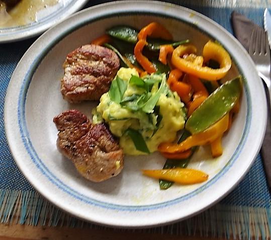 Medaillons,Kartoffelstampf,Paprika (1)