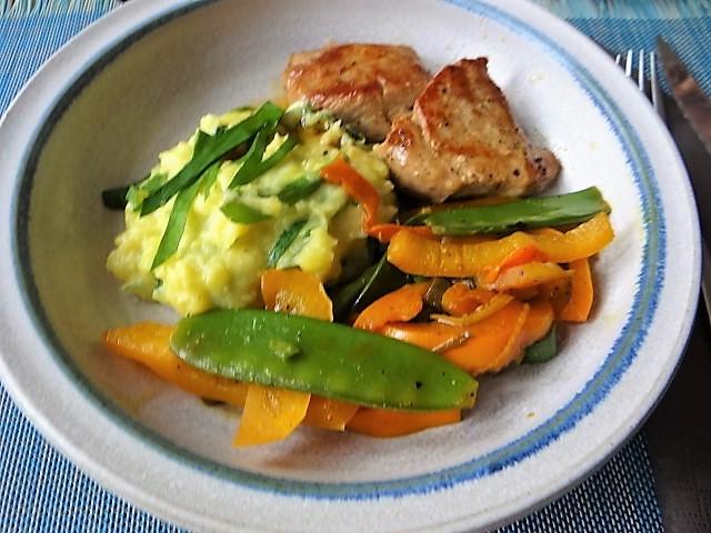 Medaillons,Kartoffelstampf,Paprika (3)