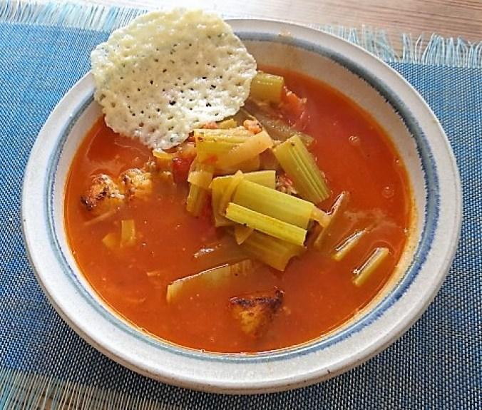 Staudensellerie Suppe mit Weißbrot (27)