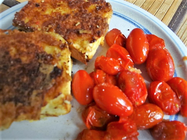 Gebratenes Gemüse mit gebackenem Feta und Kartöffeltaler (19)