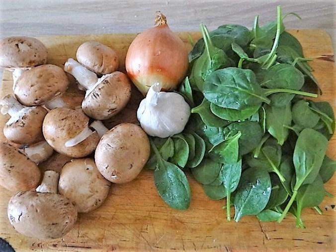 Geschnetzeltes mit Spinat und Hirse (5)