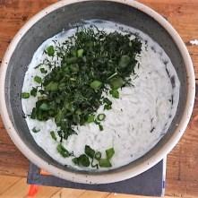 Krautsalat,Tzatziki,Kartoffelspalten,Hackbällchen (17)