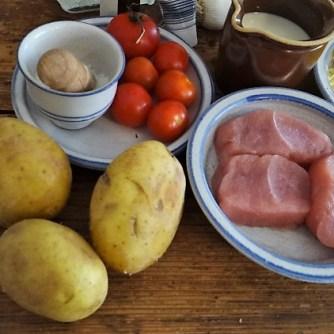 Lauch Gratin,Putenschnitzel,Kartroffelspalten (3)