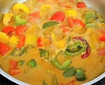 Paprika in Kokosmilch und Gewürzreis (11)