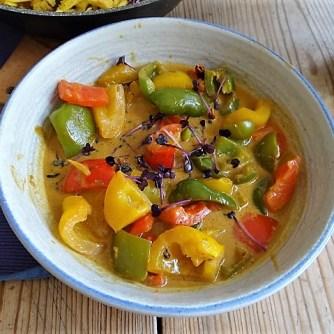 Paprika in Kokosmilch und Gewürzreis (12)