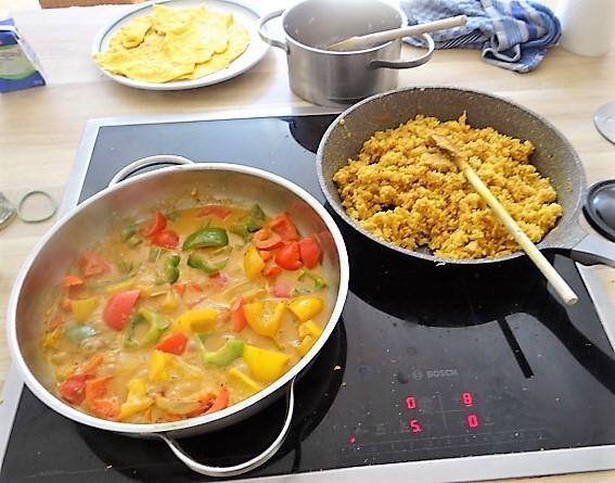 Paprika in Kokosmilch und Gewürzreis (14)