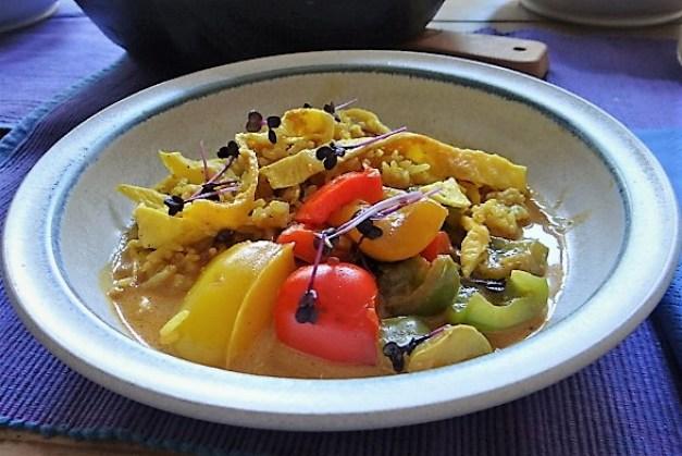 Paprika in Kokosmilch und Gewürzreis (2)