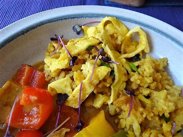 Paprika in Kokosmilch und Gewürzreis (3)