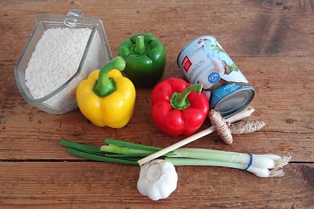 Paprika in Kokosmilch und Gewürzreis (7)