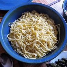 Spaghetti,Grüner Spargel, Ei, Garnelen (15)