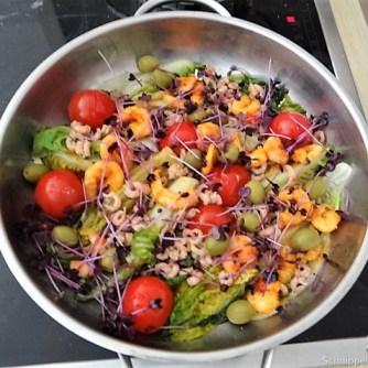 Gebratener Salat-Nordseekrabben und mehr (12)