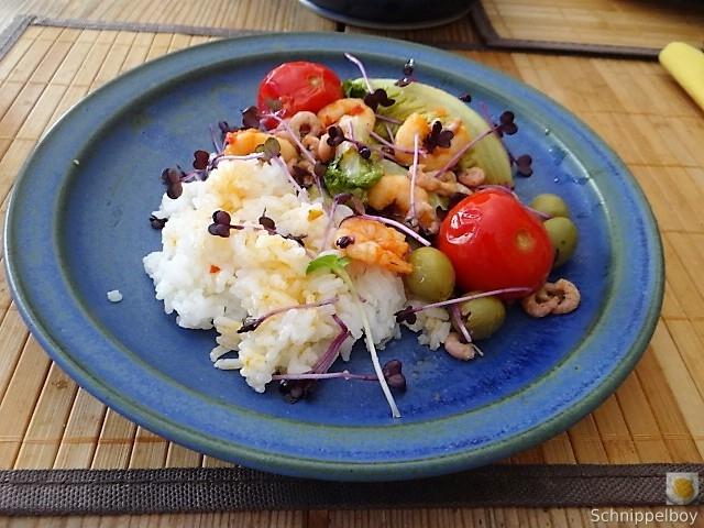 Gebratener Salat-Nordseekrabben und mehr (13)