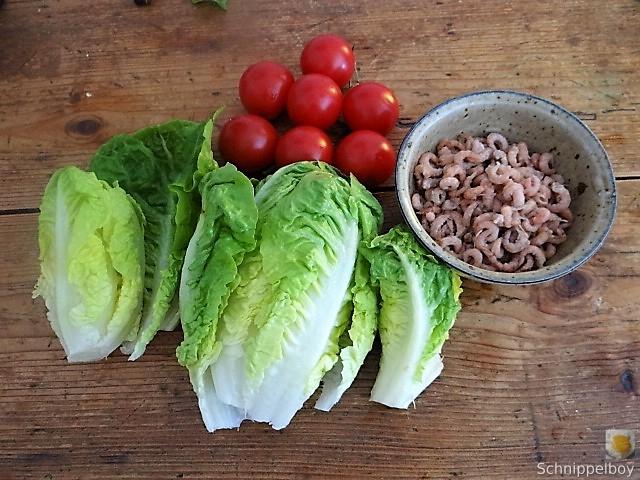 Gebratener Salat-Nordseekrabben und mehr (6)