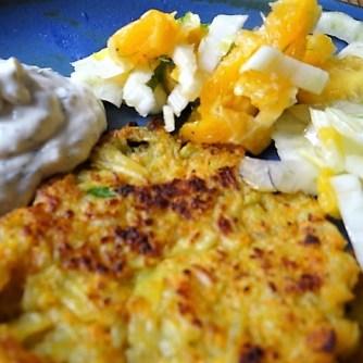 Kartoffel-Möhren Pupper mit Quark Dip und Fenchelsalat (17)