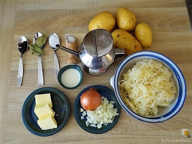 Sauerkraut,Kartoffelstampf,Weißwurst (9)