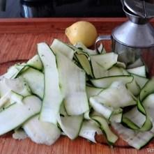 Zucchinisalat,Tomatensalat,Guacamole und Ofenkartoffeln (8)