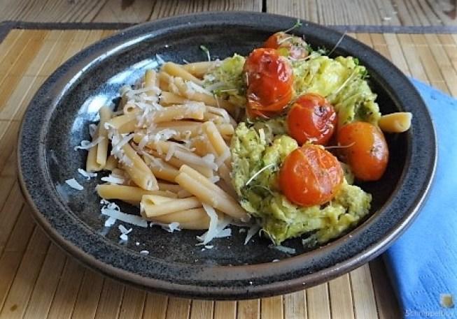 Linsennudeln, Tomaten mit Rührei (13)