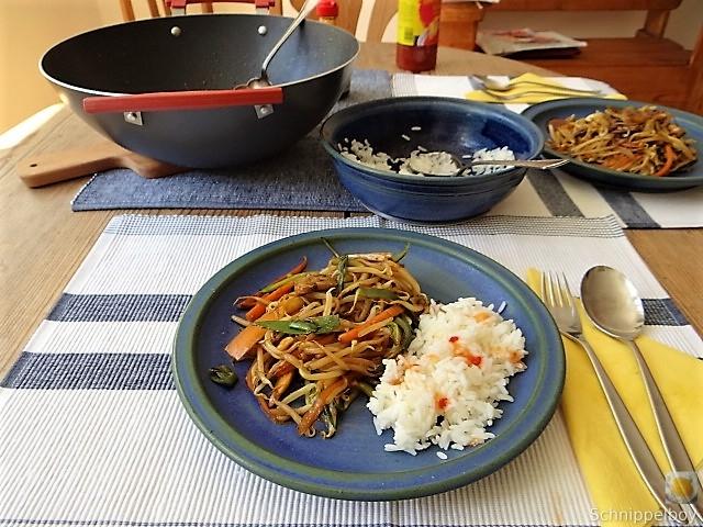 Mungbohnenkeimlinge mit Gemüse,Reis (15)