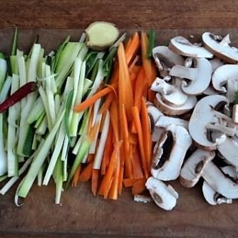 Mungbohnenkeimlinge mit Gemüse,Reis (8)