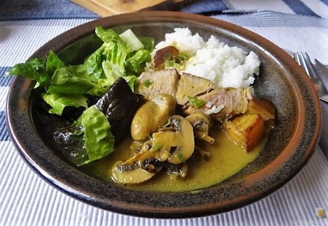 Sherryfleich,Reis,Salat (2)