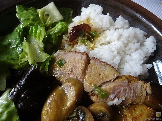 Sherryfleich,Reis,Salat (3)