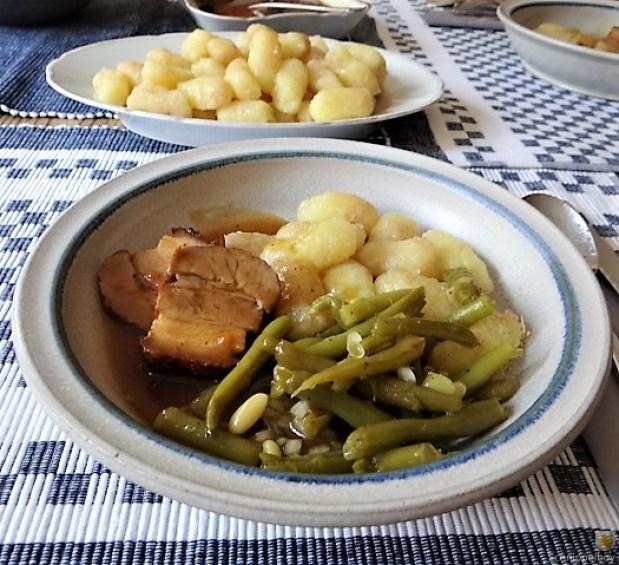 Bauchfleisch,Gnocchis,Bohnensalat (22)