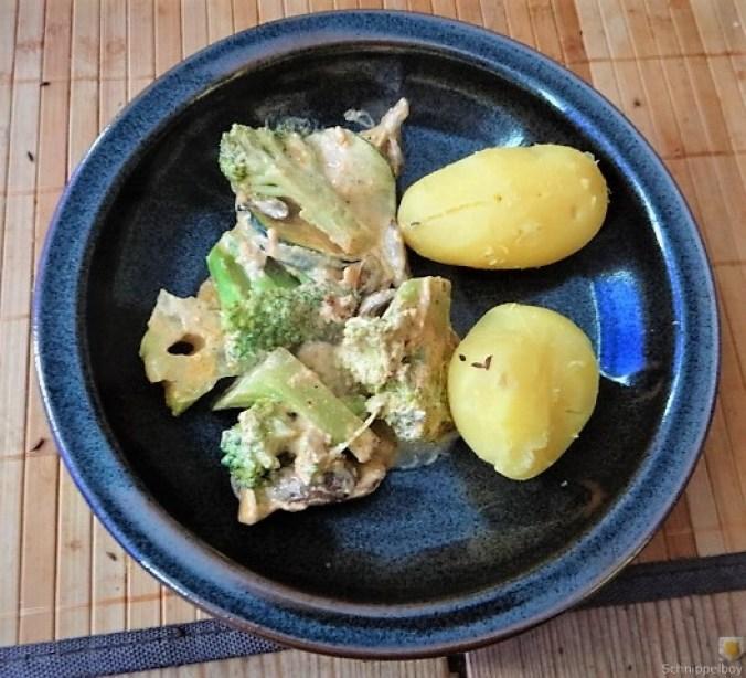 Brokkoli,Zucchini,Pilze in Labneh (1)