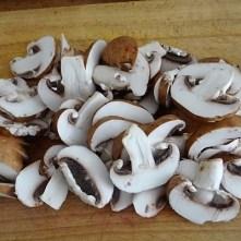 Schinken-Pilz Röllchen mit Hirse (9)