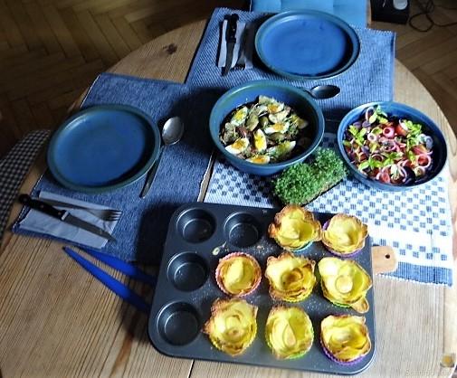 Thunfisch-Eiersalat mit Kartoffelrosen (5)