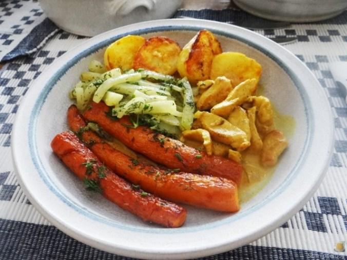 Geschnetzeltes, Kohlrabi,Karotten,Ofenkartoffeln (1)
