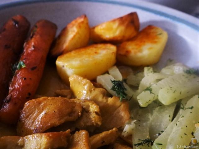 Geschnetzeltes, Kohlrabi,Karotten,Ofenkartoffeln (3)