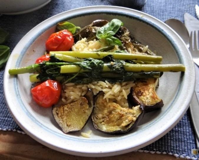 Knoblauchgrün,Gemüse,Kritharaki (2)